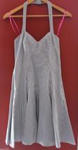 NEW! Betsey Johnson Retro Striped French Blue White Halter Smocked Dress... - $2.141,78 MXN