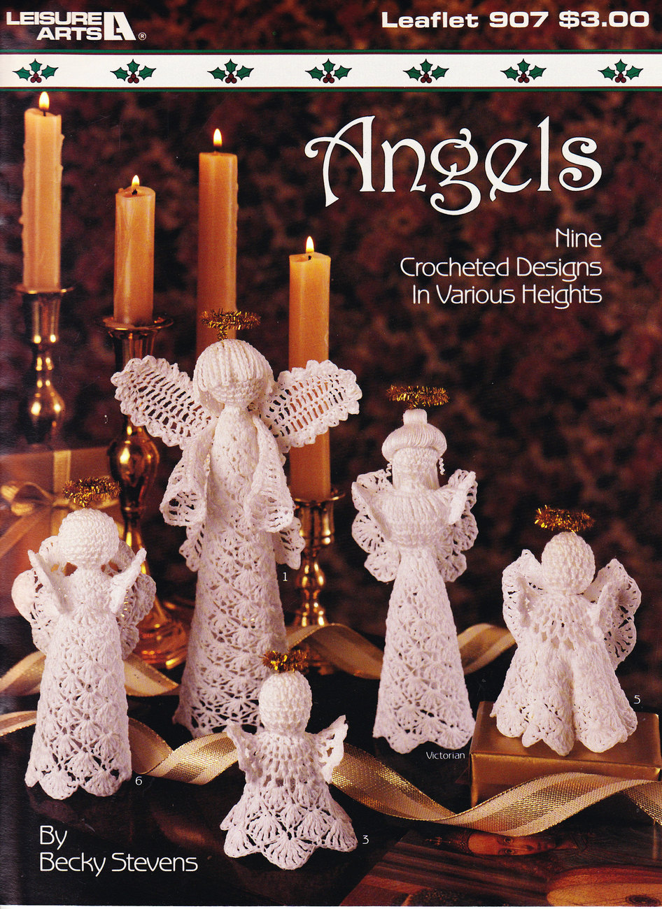 Primary image for CROCHETED ANGELS LEISURE ARTS 907 CHRISTMAS DECOR 9 DESIGNS