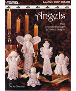 CROCHETED ANGELS LEISURE ARTS 907 CHRISTMAS DECOR 9 DESIGNS - $5.50