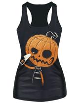 Death Wish Pumpkinhead Goth Tank Top, ONE SIZE - $23.38