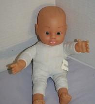 """Uneeda BABY DOLL 11"""" Blue Eyes Soft Toy Vinyl Cloth Body Mama Cries Sound 2015 - $16.42"""