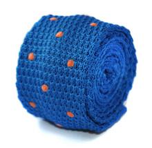 Blu reale e arancione a pois aderente maglia Cravatta da Frederick Thomas ft2002