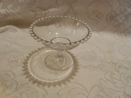 Imperial Glass Candlewick Pedestal Compote Candy Dish - $8.86