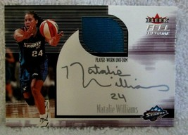 NATALIE WILLIAMS 2001-02 FLEER FEEL THE GAME GU PATCH AUTOGRAPH AUTO GEM10? - $15.83