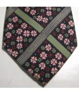 EMANUEL UNGARO PARIS Rich Pink Red Green Floral RARE Vintage Wide  Tie - $29.99