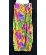 Vtg Jams World Sz XS/S Womens Bold Floral Tie Waist Long Sarong Wrap Max... - $35.15