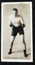 1928 Ogden's Pugilists in Action #7 JOHNNY BROWN  Boxing Card - $6.88