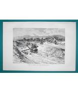 PANAMA Canal Construction - 1891 Antique Print Engraving - $20.25