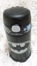 Batman Black Stainless Steel Kids Insulated 12oz Funtainer Thermos Straw... - $20.29
