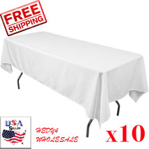 10 packs 60 x 102 Inch RECTANGLE Polyester Tablecloths Hotel Boot WHOLESALE - $72.00