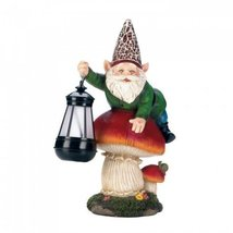 Gnome On Mushroom Solar Statue by Summerfield Terrace - €23,73 EUR