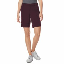 NWT 32 Degrees Women Cool Woven Casual Active Cargo Short with Stretch Wine image 2