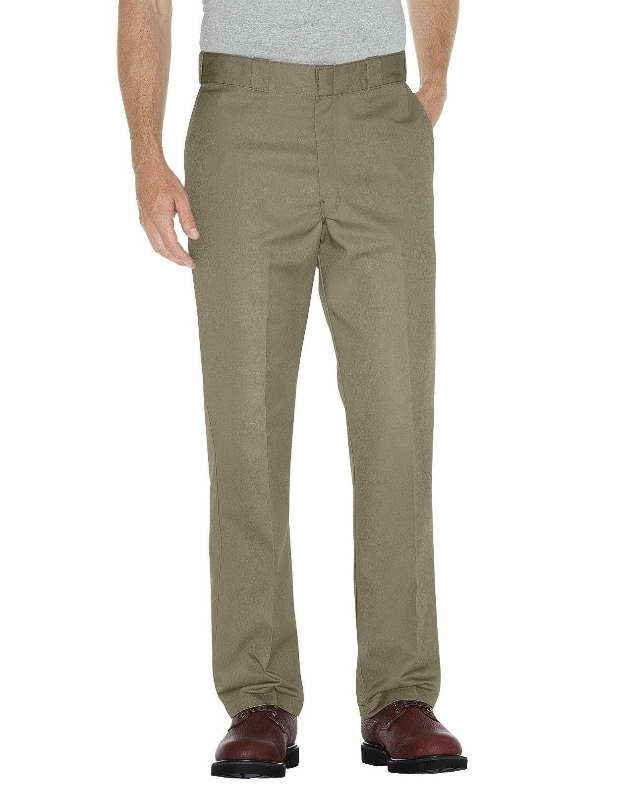 Primary image for DICKIES Work Pants~Tan Khaki~Loose Fit~28W x 32L~Double Knee~Cell Phone Pocket