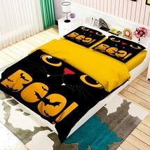 3D Black Cat Cute 26 Bed Pillowcases Quilt Duvet Single Queen King US Lemon - $102.84+