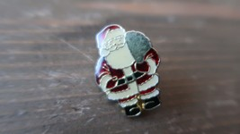 "Vintage 1"" Enamel Christmas Santa Lapel Pin - $9.89"