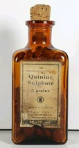 Antique H.K. MULFORD CO. Quinine Sulphate Medicine Bottle Orig Label & C... - $39.95
