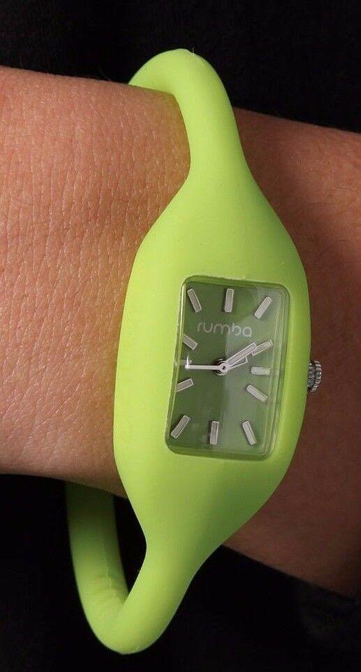 RumbaTime Ladies Big Apple Green Lafayette Quartz Analog Silicone Watch Medium