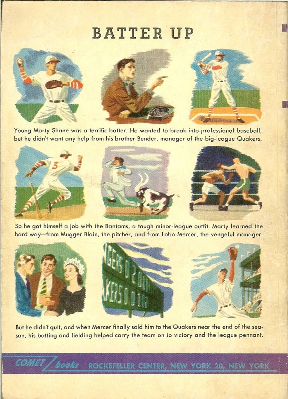 1948 batter up baseball book jackson scholz big leagues comet books