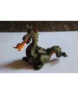 PAPO 1999 SCHLEICH GREEN MEDIEVAL FIRE BREATHING DRAGON CASTLE FIGURE - $11.99