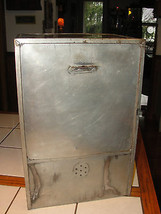 Old metal pie tin safe or store canister, unpainted - $61.28