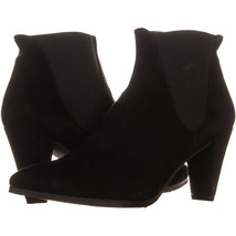 Stuart Weitzman Scooped Pointed-Toe Ankle Boots 777, Black, 7.5 US - $149.75