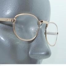 Petite Oval Style Angle Bridge Reading Glasses Gold Metal Frame +2.50 Lens - $18.00