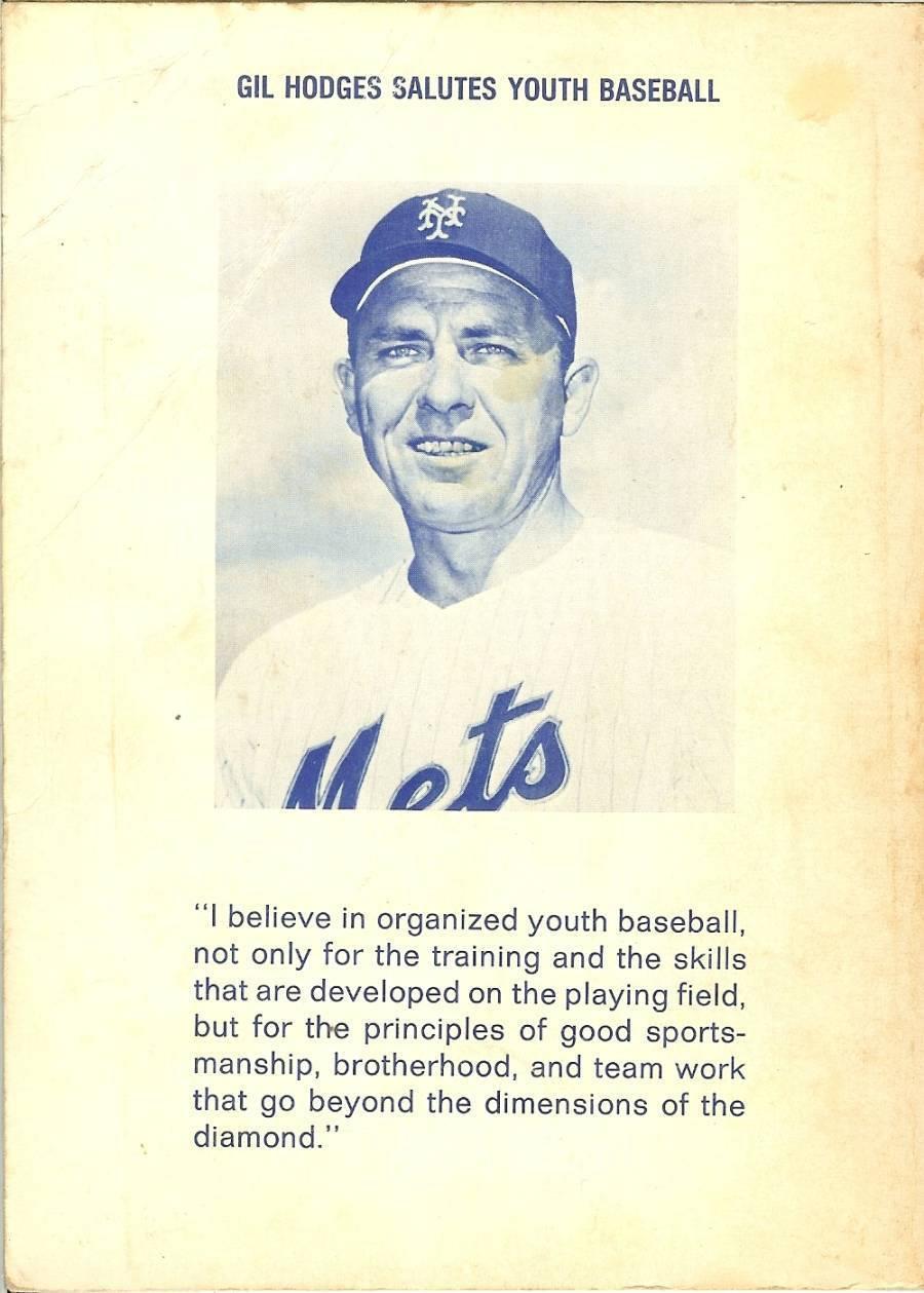 1969 baseball for boys by john rosenburg gil hodges paper back