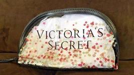 Victoria's Secret Sparkle Sequin Clear Makeup Cosmetic Case Beauty Bag Organizer - $17.76