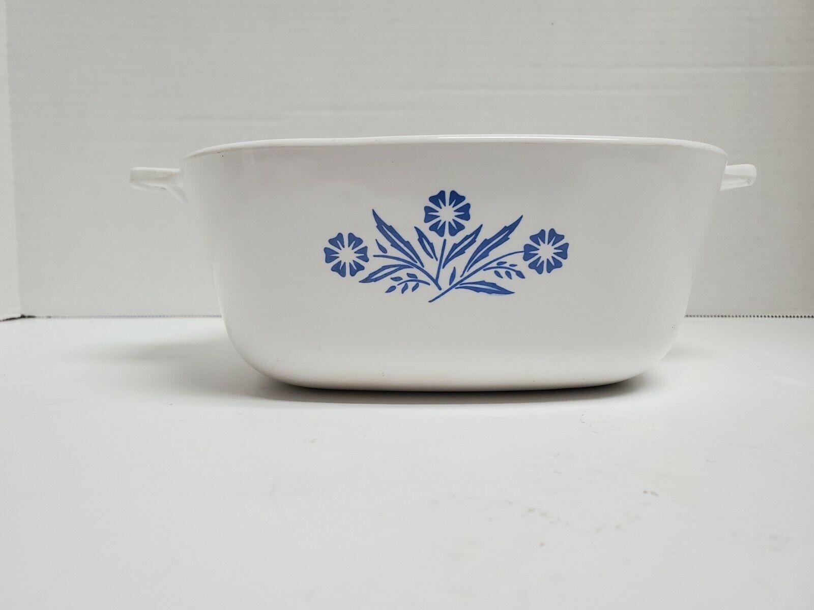 Vintage 1966 Blue Cornflower 1 1/2 QT P-4-B Casserole dish. NO LID - $12.86