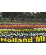 Postcard Holland Michigan Tulips Field Veldheer's Farm Unused - $5.93