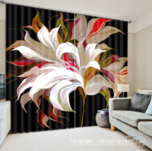 3D Grand Flower Blockout Photo Curtain Printing Curtain Drapes Fabric Window AU - $130.83+