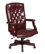 Oxblood (Burgundy) High Back Exec Office Traditional Chair w/Padded Arms... - $244.99
