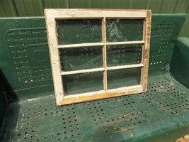 Old Wood Window Frame 6 Glass Panes Rustic Farm House Decor Cottage 28 x... - $99.00