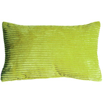 Pillow Decor - Wide Wale Corduroy 12x20 Green Throw Pillow - £22.86 GBP