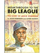 1965 breakthrough to the big league jackie robinson alfred duckett book - $9.99