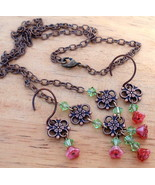 Victorian Bell Flower Necklace & Earrings Annie... - $31.99