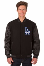 MLB Los Angeles Dodgers Wool & Leather Reversible Jacket with Embroidered Logos - $249.99