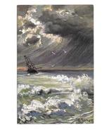 Seascape Nautical Artist Signed G Fuhrmann Sailing Ship Rough Water ASM ... - $5.95