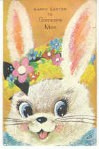 Vintage Easter Card Bunny Rabbit and Baby Bunnies Pop Up Gibson - $7.91