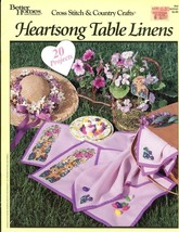 Heartsong Table Linens 20 Projects BH&G Cross Stitch Pattern Leaflet #64 - $3.57