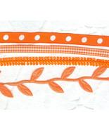 Bright Bright Orange Halloween Thanksgiving Autumnal Trim Mix - $5.00