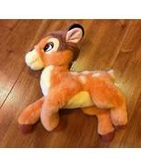 """Disney Store Bambi Stuffed Animal Plush 11"""" Long 13 1/2"""" Tall - $19.79"""