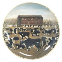 Spring Pasture Cow Plate Lowell Herrero American Folk Art Franklin Mint ... - $24.75