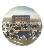Spring Pasture Cow Plate Lowell Herrero American Folk Art Franklin Mint ... - $24.75