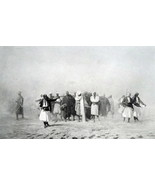 PRISONERS March theu Desert Military Conscripts - SUPERB 1881 Print by G... - $40.50