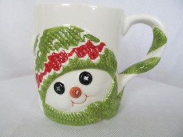 Coffee Cup Holiday Mug Department 56 Snowman with Pointy Nose Christmas - $15.00