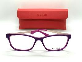 Authentic Guess GU 2538 075 purple 55-15-135MM Eyeglasses /CASE+ CLOTH - $31.98
