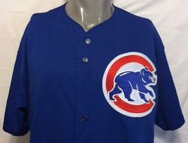 Vintage Majestic Chicago Cubs Blue Baseball Jersey Size XL MLB Wrigley U... - $84.14