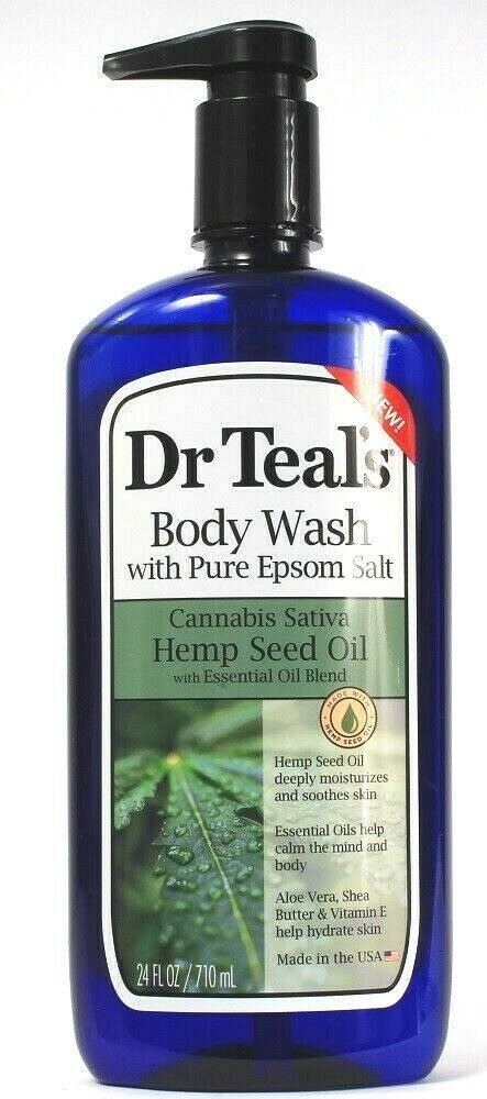 Primary image for 1 Ct Dr. Teal's Pure Epsom Salt Hemp Seed & Essential Oils Body Wash 24Fl oz