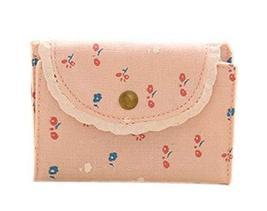 Floral Credit Card Case Bag Holder with 20 Card Slot, Pink